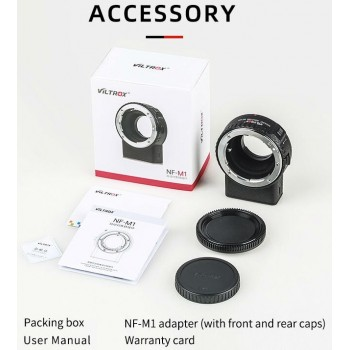 VILTROX NF-M1 для объектива Nikon F-mount на байонет Micro 4/3
