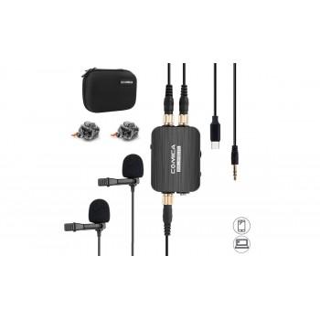 Микрофон COMICA CVM-D03 Dual LAV STC двойной петличный микрофон Type-C