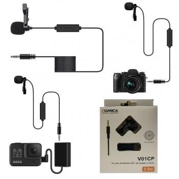 COMICA CVM-V01CP Всенаправленный петличный для цифровых камер и Go Pro (2.5m.)