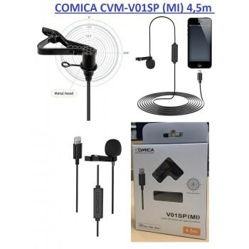COMICA CVM-V01SP (MI) 4.5m Всенаправленный Петличный Микрофон с Lightning интерфейсом для Apple