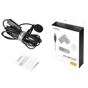 COMICA CVM-V01SP (UC) Type-C Всенаправленный Петличный Микрофон