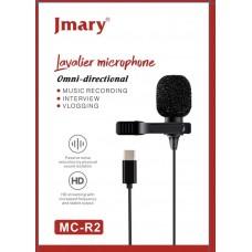 Петличный микрофон Jmary MC-R2 Type-C 2м.