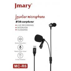 Петличный микрофон Jmary MC-R6 Type-C 3м.