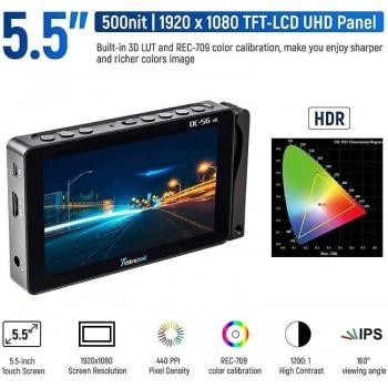 Профессиональный накамерный монитор Viltrox Timbrecod DC-56 HD 5.5 inch 4K HD Touch Screen
