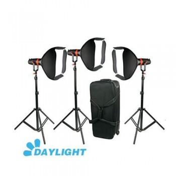 Комплект осветителей 3шт CAME-TV Q-55WMKII-3PACK Boltzen 55w High Output Fresnel Focusable LED Daylight 21000 Lux@1m