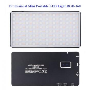 Накамерный свет RGB Mini Portable LED Light RGB-160