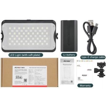Накамерный видеосвет VILTROX RB10 RGB (2500K-8500K/128шт. ламп) c аккумулятор F570+C-Type Cable