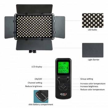 Накамерный свет VILTROX VL-S192T (3200K-5500K) Сетевой адаптер + Пулть управление