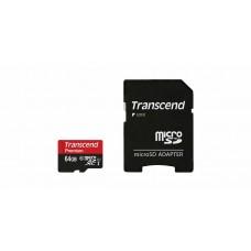 Карта памяти TRANSCEND MicroSDXC 64ГБ UHS1 60MB/s 400X (TS64GUSDCU1)