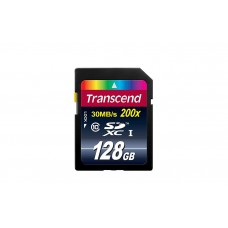 Карта памяти Transcend SDXC 128GB Class 10 200x 30mb/s (TS128GSDXC10 )