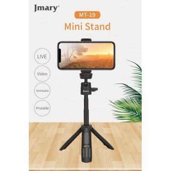 Мини настольный штатив c селфи-монопод Jmary MT-19 для съёмки с фото, видеокамер и смартфон