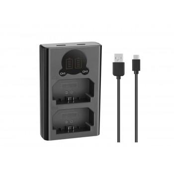 Gokyo двойное зарядное у-во DL-NPFZ100 Micro и Type-C USB Charger с инфо индикатором